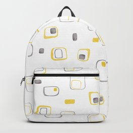 yellow grey retro shapes Backpack