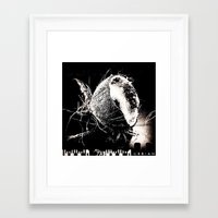 coconut wishes Framed Art Prints featuring Coconut by Bhairavi Parikh