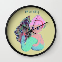 Chibi Mermaid #1 Wall Clock