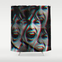 psycho Shower Curtains featuring PSYCHO by Inception of The Matrix