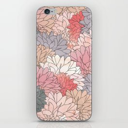 Hydrangea Haven - Muted Colors iPhone Skin