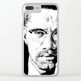 Malcom X Illustration Clear iPhone Case