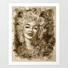 blonde bombshell - sepia version Art Print