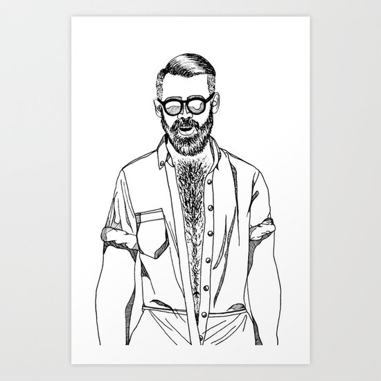 haircut 60's Art Print