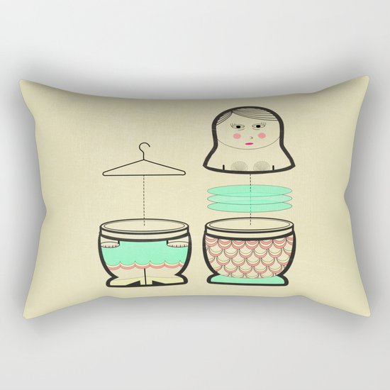 The mermaid who was tired of her tail ... Rectangular Pillow