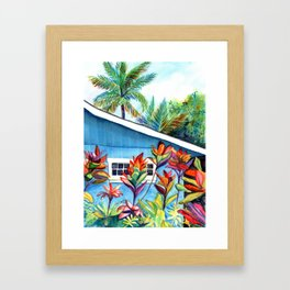 Hanalei Cottage Framed Art Print