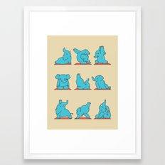 Elephant Yoga Framed Art Print