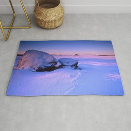 Frozen lake Rug