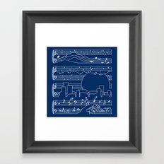 The Moonlight Sonata Blue Framed Art Print