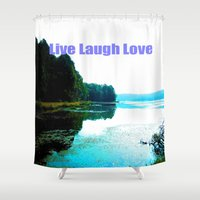 dallas Shower Curtains featuring Dallas Bay by Happy Fish Gallery