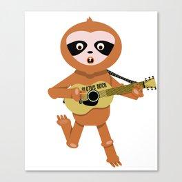 Sloths rock Canvas Print