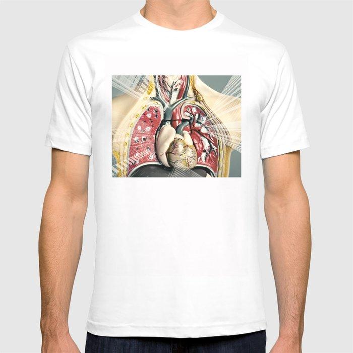 Double Exposure Of Human Anatomy T Shirt By Orbonalija Society6