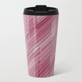 The Red Hash - Geometric Pattern Travel Mug