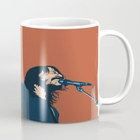 dave grohl Mugs featuring Dave Grohl by Gnottingham