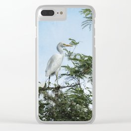 Cattle Egret In a Tree Clear iPhone Case