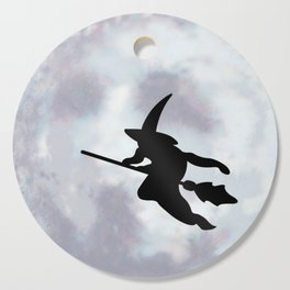 Witch, Witch Flying Across the Moon Cutting Board