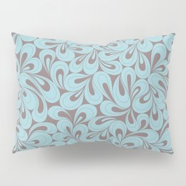 Teal and coffee hand drawn elegant surface pattern Pillow Sham