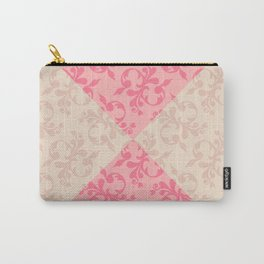 Pink flowers fabric prints floral Carry-All Pouch