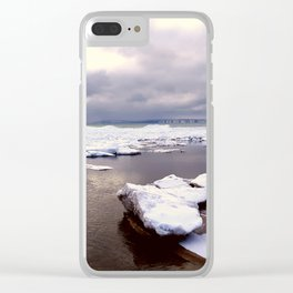 Grey skys Clear iPhone Case