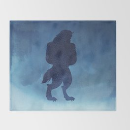 Beast Silhouette - Beauty and the Beast Throw Blanket