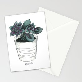 Aeonium Stationery Cards