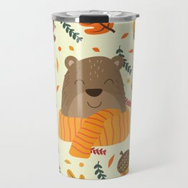 Autumn Pattern Travel Mug