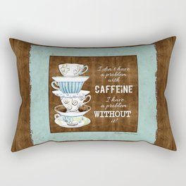 Deja Brew, Coffee Java Lovers Original Watercolor Art Collection Rectangular Pillow