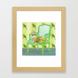 animals in chairs #6 The Sloth Framed Art Print