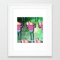 katamari Framed Art Prints featuring Katamari Cousins - Macho by cakeisforrobots