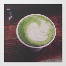 Matcha latte Canvas Print