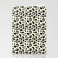 leopard Stationery Cards featuring Leopard by Laura Maria Designs