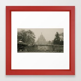 Sacre Coeur on a Snowy Day Framed Art Print