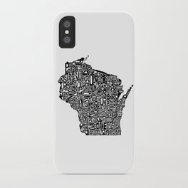 Typographic Wisconsin iPhone Case