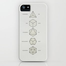 The Platonic Solids iPhone Case