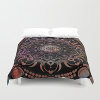 chakra Duvet Covers featuring CHAKRA by Spectronium - Art by Pat McWain