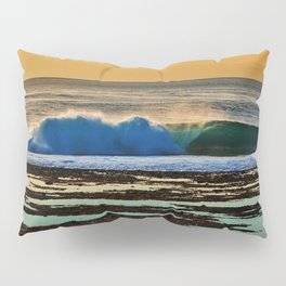Indonesian Wave and Volcano Pillow Sham