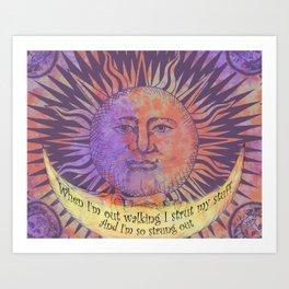 Blister in the Sun Song Lyric Art Art Print