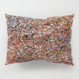 ELECTRIC 071 - Jackson Pollock style abstract design art, abstract painting Pillow Sham