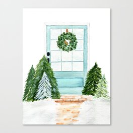 Southern Blue Door Canvas Print