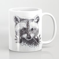 racoon Mugs featuring Racoon by Faustine BLESSON