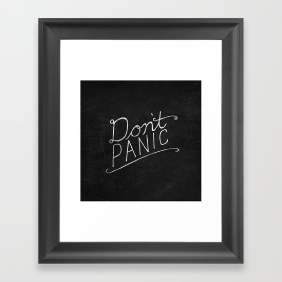 Don't Panic Framed Art Print