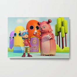 Lilly and Momo Metal Print