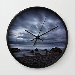 Gloomy Beach Wall Clock