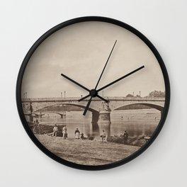 Pont des Invalides Les Travaux Publics de la France Wall Clock