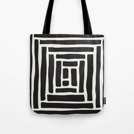 Geometric Tile Network Tote Bag