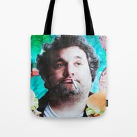jessica lange Tote Bags featuring Artie Lange by John Turck