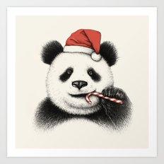 Festive Panda Art Print