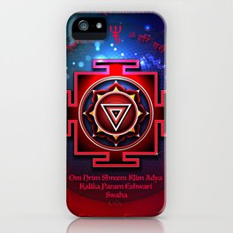 Kali Yantra with the Great Fifteen-Syllable Mantra iPhone Case