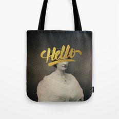 Vintage Quotes Collection -- Hello Tote Bag