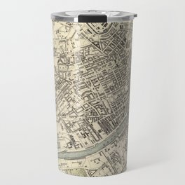 Vintage Map of Glasgow Scotland (1872) Travel Mug